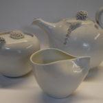 Ensemble théière sucrier tasse porcelaine blanche CORAIL 1