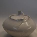 Sucrier porcelaine blanche COQUILLAGE